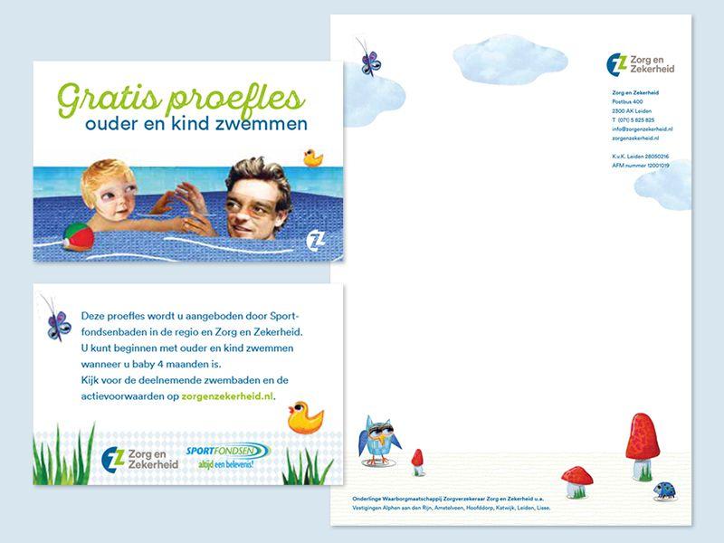 ZZ kraampakket zwemkaart & briefpapier